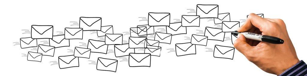 Hand malt Briefumschläge für newsletter