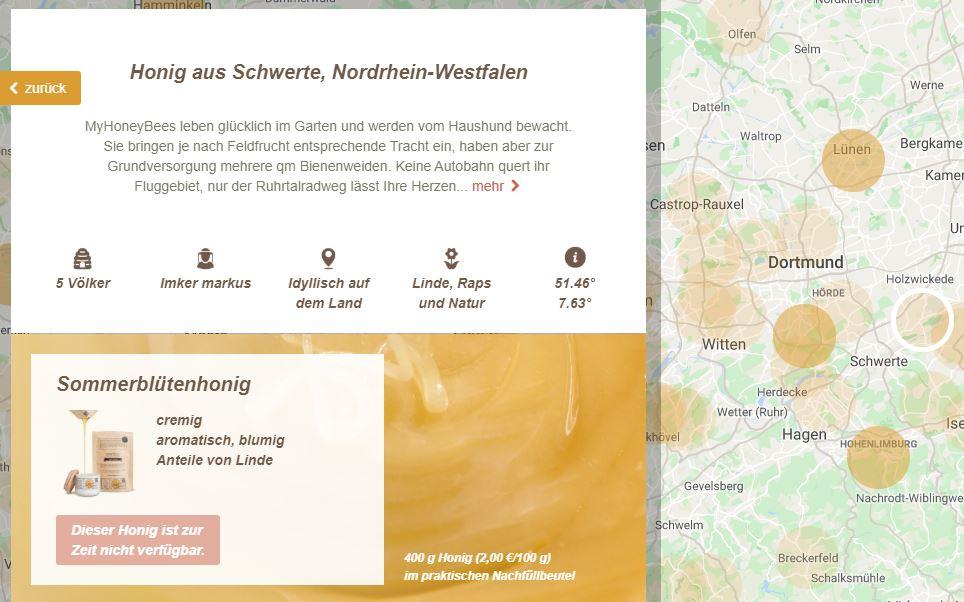exemplarische Darstellung des Profils auf der Plattform nearbees.de