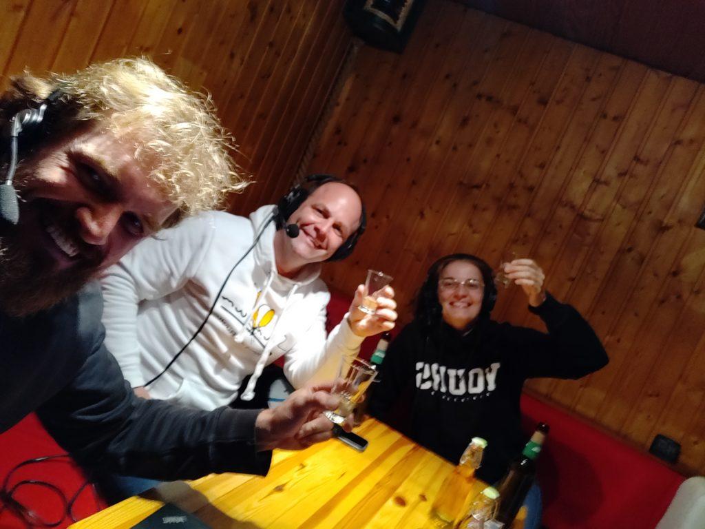 die drei lustigen beim Podcasten