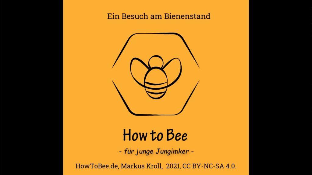 Mit dem Kindergarten am Bienenstand - howtobee für junge Jungimker